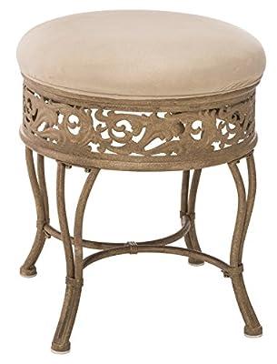 Hillsdale Villa III Vanity Stool, Antique Beige by Hillsdale Furniture LLC