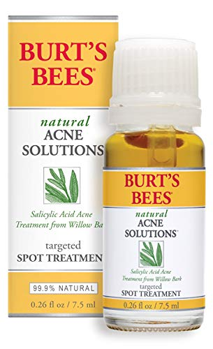 Burt's Bees Natural Acne Solutions Targeted and Minimizing Spot Treatment for Oily Skin, 0.26 Oz (Package May Vary)