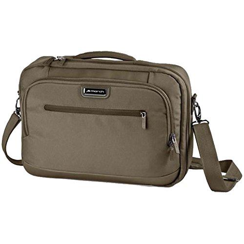 MARCH 15 Business Rucksack Rolling Laptoptasche Messenger Bags 1,1 kg Braun 42x30x10cm NYLON Bordgepäck Kabinen Handgepäck Umhänge Tasche Bowatex