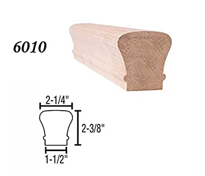 Stair parts EURO BEECH 6010, 6210 and 6310 (9100) wood handrail 8' long