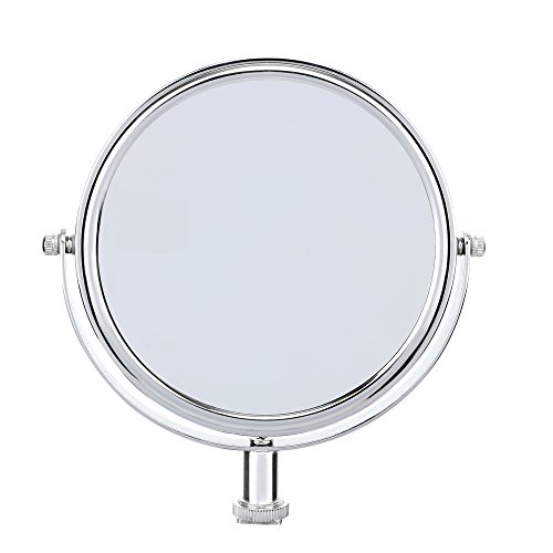 ZOMEI 6 inches Glass Double-sided Round Shape Makeup Mirror with Adapter for LED Ring Light, Portable for Selfie, Portrait, Makeup and other beauty treatments