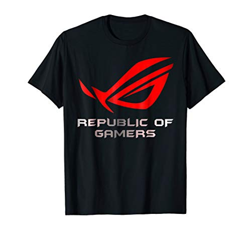 Republic of Gamers Red Logo T Shirt For Mens Kids Womens