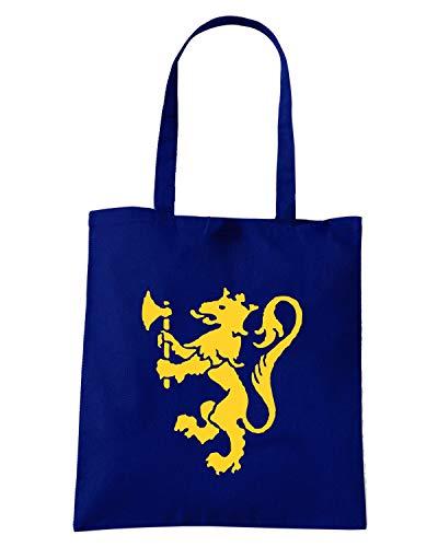 Speed Shirt Borsa Shopper Blu Navy OLDENG00347 NORWAY LION RAMPANT