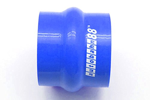 Autobahn88 Universal Automotive Silicone Hose Blue 76mm Straight Hump Coupler Length 3 5mm ID 4.5 114mm Wall Thickness 0.2 4-Ply