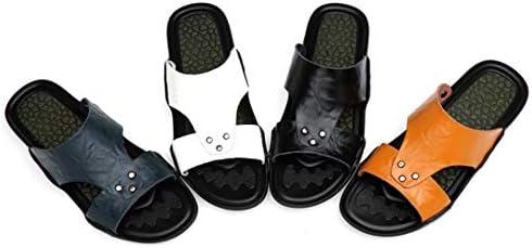 サンダル メンズ 革 23.5-28cm 軽量 皮サンダル おしゃれ 紺色・黄色・白い・黒い 滑り止め ビーチサンダル