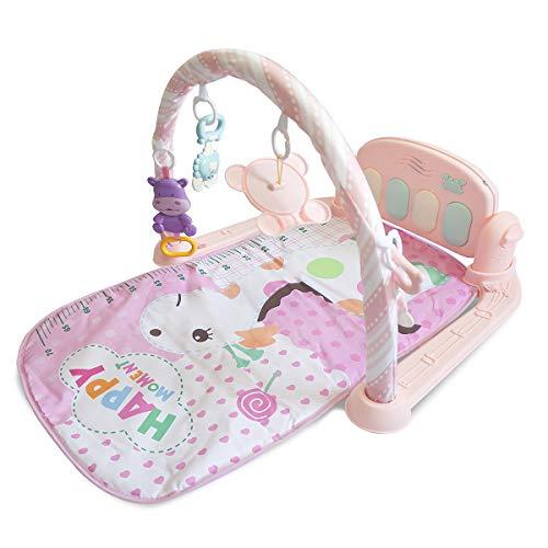 Tapetinho com Mobile Pianinho Musical Melodia Rosa Baby Style