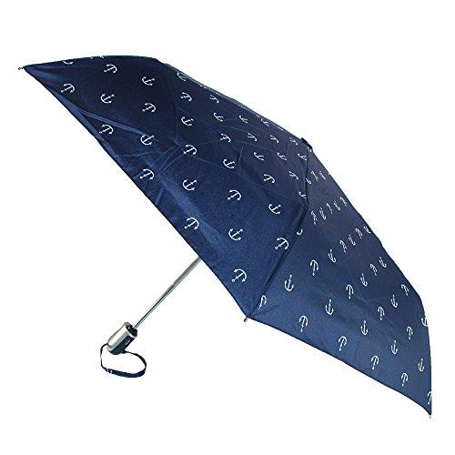 shedrain-compact-folding-auto-open-and-close-umbrella-anchor-blue