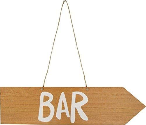 MT Cartel Bar Madera, Aprox. 42 x 10,5 x 0,5 cm: Amazon.es ...