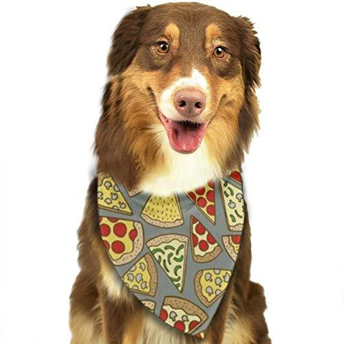 Pet Scarf Dog Bandana Bibs Triangle Head Scarfs Cartoon Pizza Accessories for Cats Baby Puppy