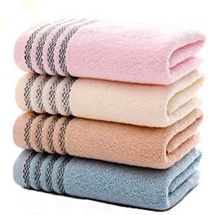 CQIANG [4個]タオルウォッシュタオル、柔らかい、吸収性、男性と女性に適し、家庭での日常使用 (Color : A)
