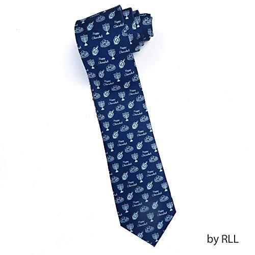 Rite Lite TIEH-4 Dreidels & Menorahs Chanukah Tie Textile, 3.25x2.00x7.50, Multi