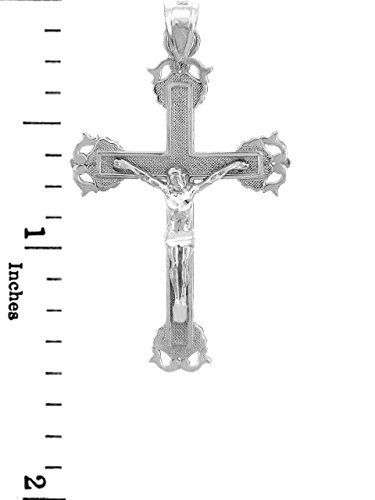 10 ct 471/1000 Or Blanc Crucifix - Sacree Crucifix Pendentif