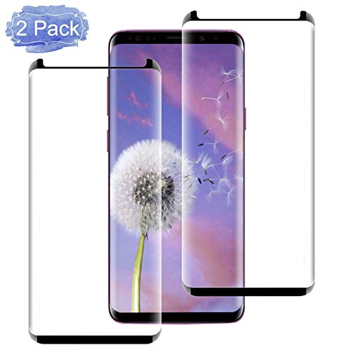 [2-Pack] Galaxy S9 Screen Protector, Tempered Glass Screen Protector [9H Hardness][Easy Bubble-Free Installation][Anti-Scratch] Compatible with Samsung Galaxy S9 (5.8) (NOT S9 Plus) (Case Friendly)