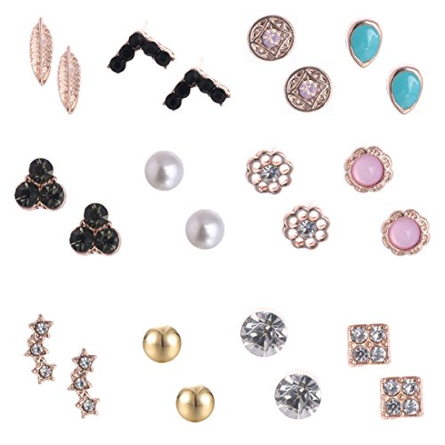 10Pairs 12Pairs Small Simple Earrings