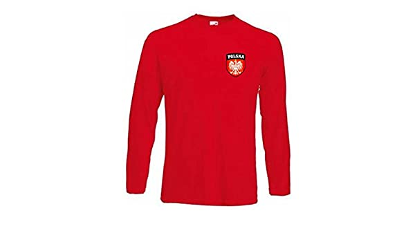Amazon.com : Camiseta Equipo Futbol Polonia Manga Larga Todas Tallas : Sports & Outdoors