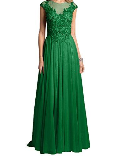 Grün Steine Damen Abendkleider Lang Festlichkleider Brautmutterkleider Formalkleider Charmant Rosa Partykleider mitPailletten vSwq44R
