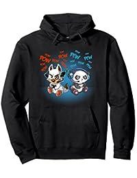 Cute Gamer Dog & Gamer Panda Gaming Buddies Hoodie