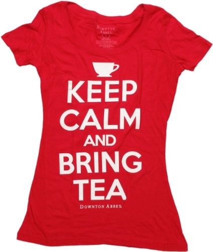 Juniors: Downton Abbey- Bring Tea Juniors (Slim) T-Shirt Size -