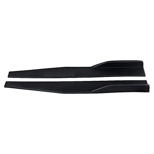 - 1 Pair Side Skirt Splitters Winglet Canard Diffuser for Sedan SUV Car (Carbon Fiber Pattern)