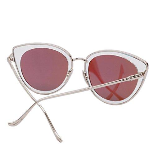 sol tide sol de personalidad mujer Alger Gafas Silver redonda gafas Mercury Blue violet Frame gafas lavender de retro cara qwEPS7nI