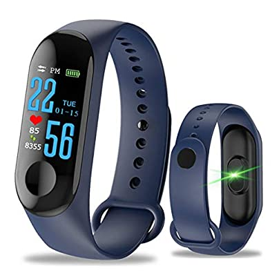 DMMDHR Smart Watch Smart WristBands Heart Rate Monitor Fitness Tracker Smartwatch Color Screen Blood Pressure Pedomater Blue China Estimated Price £45.46 -