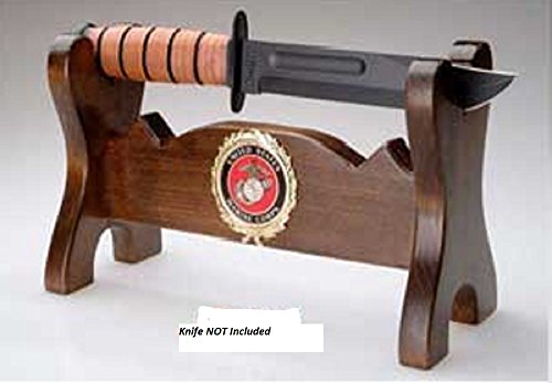 KA-BAR Knife Desk Display Stand (USMC Emblem)