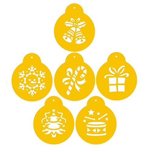 Decorating Stencil (Christmas Cookie Stencils Fondant Cookie Mold, Food Grade Plastic, Decorating Stencils (Style Three))