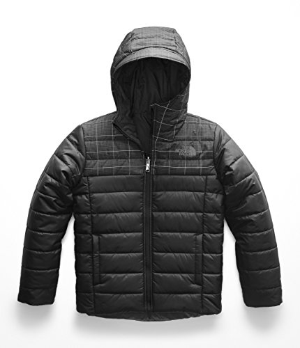 The North Face Boy s Reversible Perrito Jacket - TNF Black Reflective Grid  - XS cbc2f45c0841
