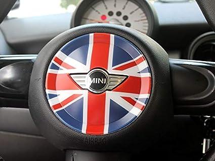 HDX - Carcasa para Mini Cooper One S JCW R56 Hatchback R57 Covertible R58 Coupe R59 Roadster 2010-2016, diseño de Bandera de Reino Unido, Color Azul y ...