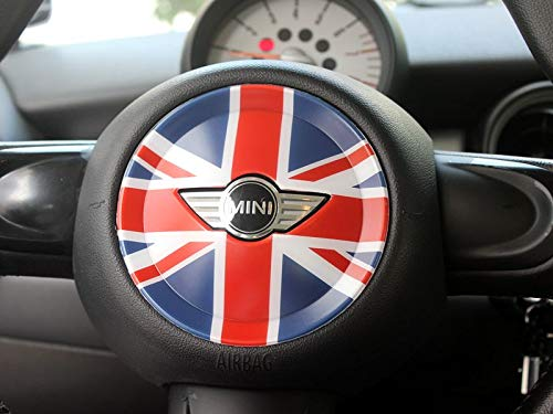 LVBAO Steering Wheel Cover Trim Cap ABS Mini Cooper ONE S JCW R Series R55 Clubman R56 Hatchback R57 Covertible R58 Coupe R59 Roadster R60 Countryman ...