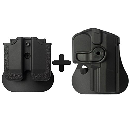 (IMI Defense Walther PPQ Tactical Combo Concealed Roto Holster + Double Mag Magazine Pouch Kit)