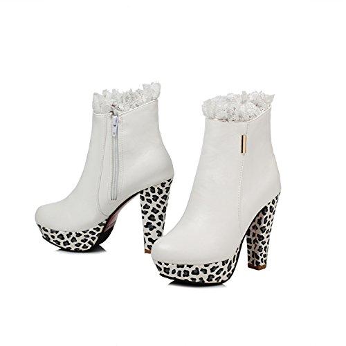 YL Women's Boots black Weiß bxFMTF1j
