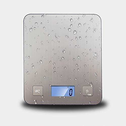 Bilance Cottura Display digitale Casa Acciaio inossidabile Antiscivolo Cucina Bilancia per alimenti Grande piattaforma LCD Portatile da cucina con precisione Bilancia Elettronica