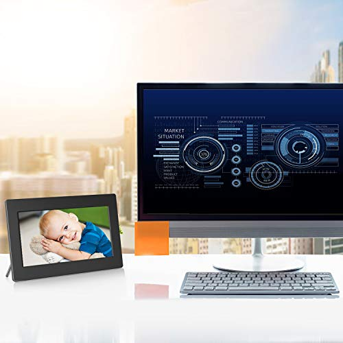 Digital Picture Frame 10 Inch Widescreen - 1280 x 800 IPS Hi-Res Digital Photo & HD Video Frame with Video Player, MP3, Calendar, Zoom in, Create Slideshows with Remote Control by Pipishell (Image #7)