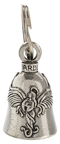 Guardian® Praying Angel with Halo and Wings Motorcycle Biker Luck Gremlin Riding Bell or Key Ring]()