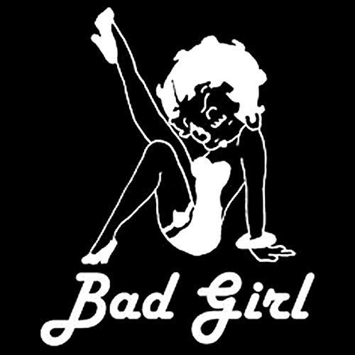 12.5CM15.5CM Bad Girl Sexy Betty Boop Style Car Stickers and Decals Motorcycle Car Styling Accessories Black Or Sliver C8-0115 Silver Betty Boop Bad Dog