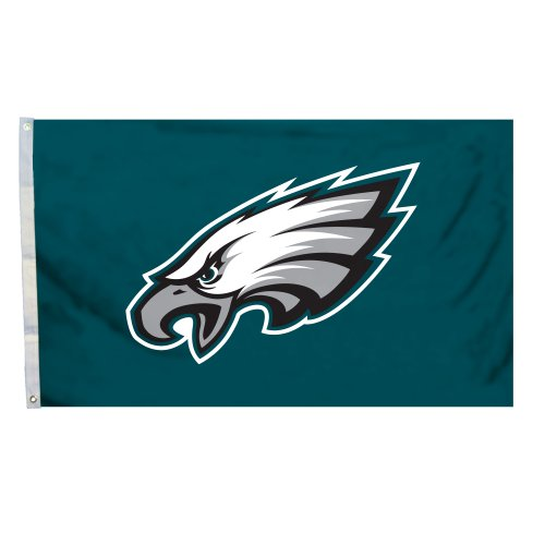 NFL Philadelphia Eagles Logo Flag with Grommets, 3 x 5-Foot