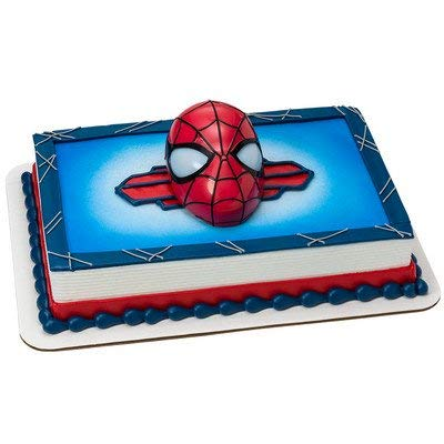 Image Unavailable Not Available For Color Spiderman Face Birthday Cake Kit