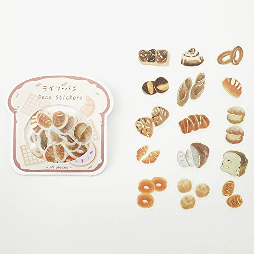 BGM - Flake Stickers - Flake Seal Foil Stamping - Life ・Bread (Washi Tape Material)