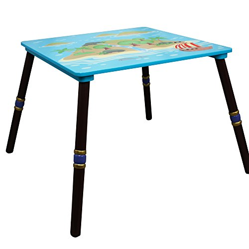 (Fantasy Fields - Pirate Island Thematic Hand Crafted Kids Wooden Table | Imagination Inspiring  Hand Crafted & Hand Painted Details | Non-Toxic, Lead Free Water-based Paint)