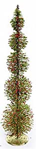 Alpine CIM154HH-L 26-Inch Rattan and Berries Christmas Tree with 5 Circular Shaped Tiers
