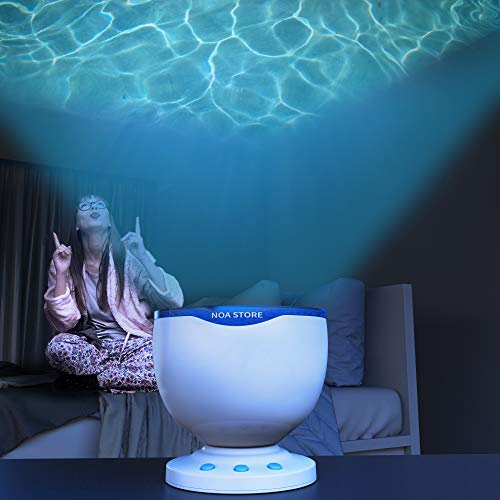 Calming Autism Sensory LED Light Projector Toy Relax Blue Night Music Projection]()
