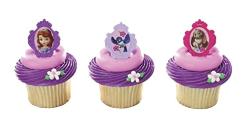 SOFIA the FIRST Sophia PRINCESS (24) Party CUPCAKE Favor TOPPER Decoration RINGS
