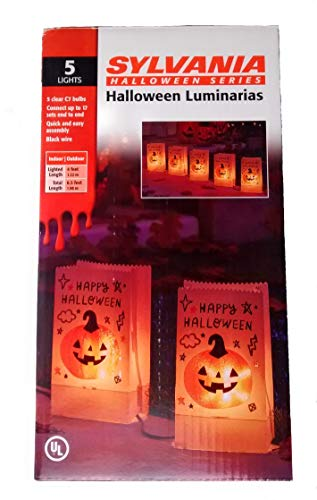 Sylvania Halloween Series Halloween Luminarias 5 Pack]()
