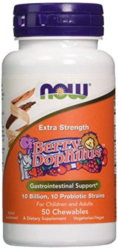 Now Foods Berry Dophilus Extra Strength Vitamin Tablet, 50 (Extra Strength Tablet Vitamins)