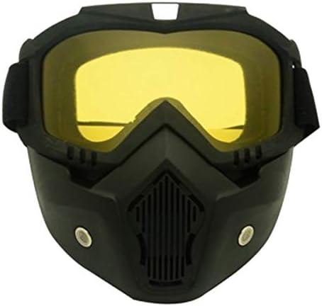 Viviki/ Masque Protecteur Protecteur pour Casque Moto modulaire d/étachable Racing-Jaune