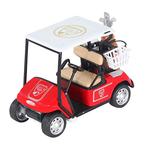 - Binory New 1:20 Scale Mini Alloy Pull Back Golf Cart w/Clubs Diecast Model Vehicle Toy, Diecast Golf Car Model Home/Office Desk Decoration Inertial Toy Kits,Birthday Gift Toy for Kids Adults(Red)
