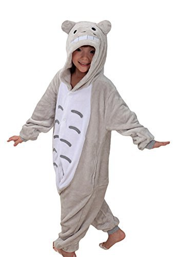 Totoro Dress Costume (Tonwhar Children's Halloween Costumes Kids Kigurumi Onesie Animal Cosplay (105(height:45.27