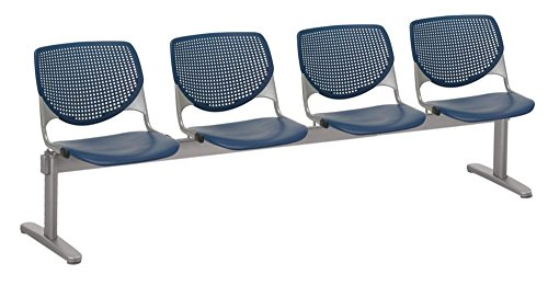 Kool Polypropylene Four Seat Beam Seating Navy Polypropylene/Silver Frame Dimensions: 95