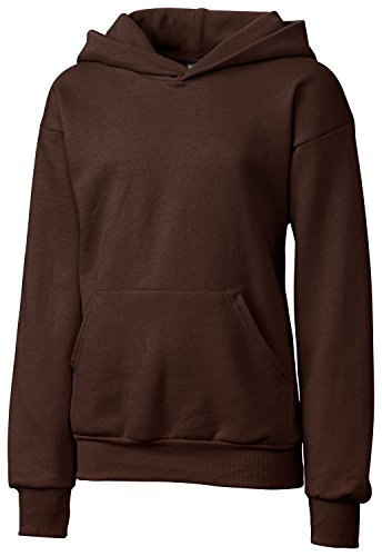 (Clique Big Girls Comfortable Fleece Pullover Hoodie, Dark Chocolate Brown, M)